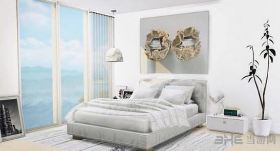 模拟人生4白色床上用品MOD截图0