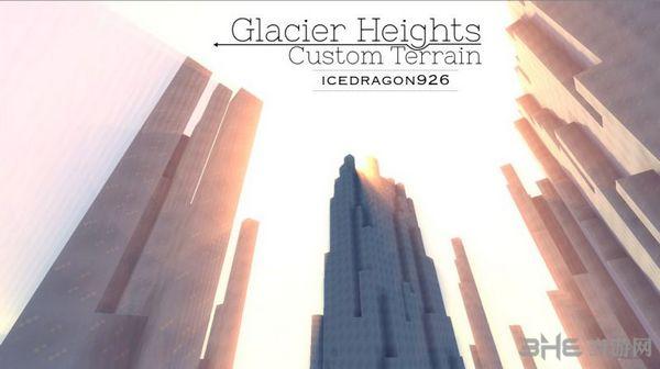 我的世界GlacierHeights冰川地图MOD截图0