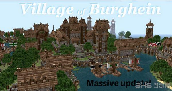 我的世界中世�o村庄地图MOD截图0