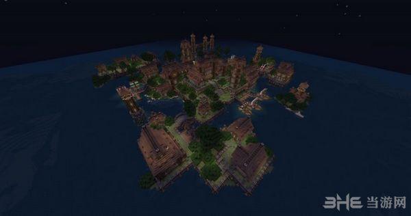 我的世界中世�o村庄地图MOD截图1