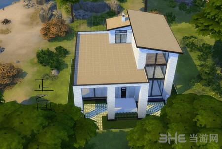 模拟人生4黑白简欧风格房屋MOD截图0