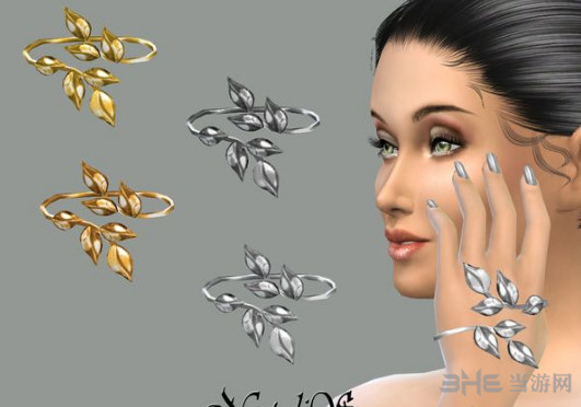 模拟人生4金银双色树枝手背链MOD截图0