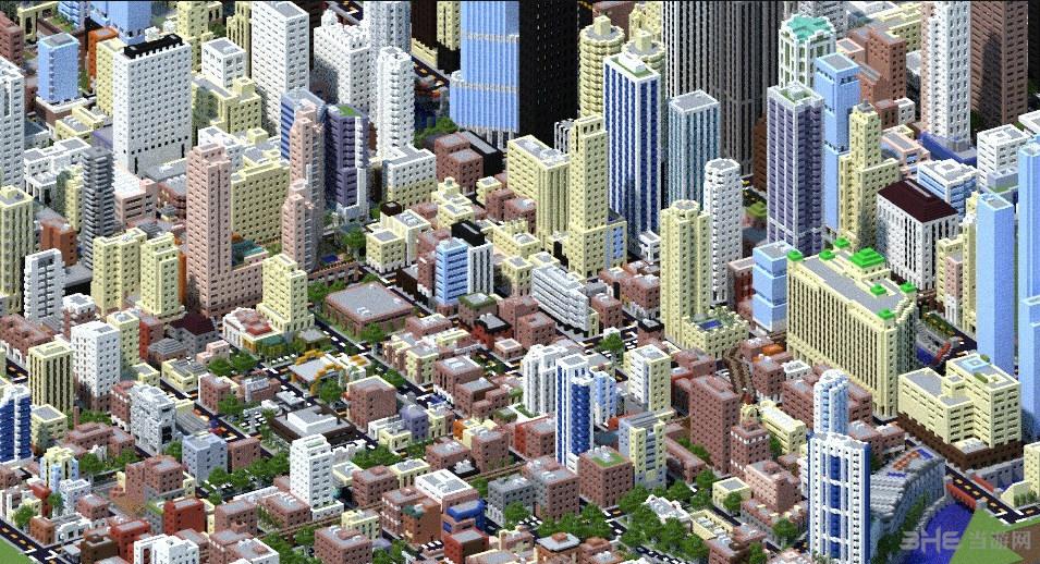 我的世界1:4芝加哥城地图存档截图4