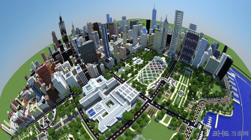 我的世界1:4芝加哥城地图存档截图0