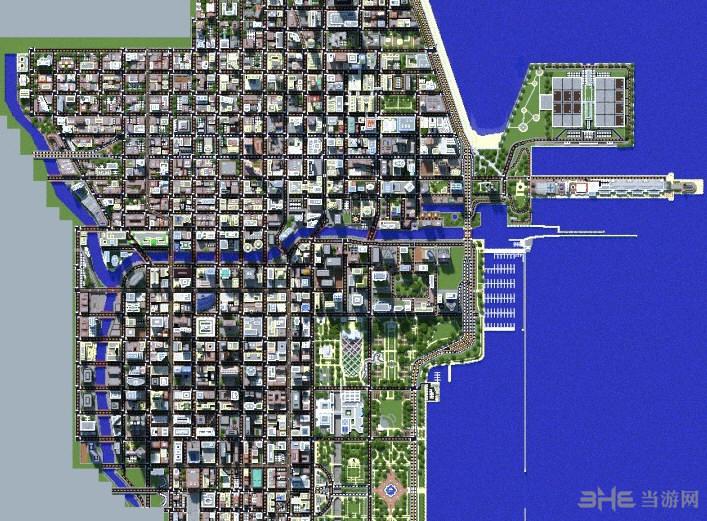 我的世界1:4芝加哥城地图存档截图1