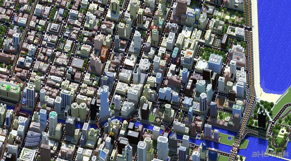我的世界1:4芝加哥城地图存档截图2
