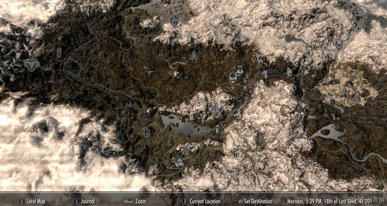 上古卷轴5:天际重制版地图去雾MOD截图0