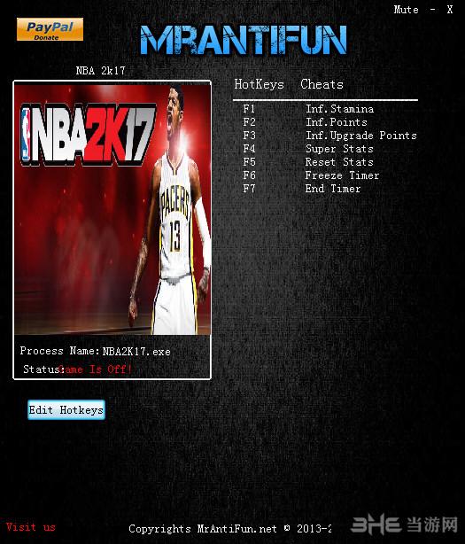 NBA 2K17七项修改器截图0