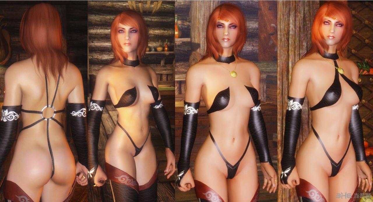 上古卷轴5:天际重制版超性感女忍者服装MOD截图0