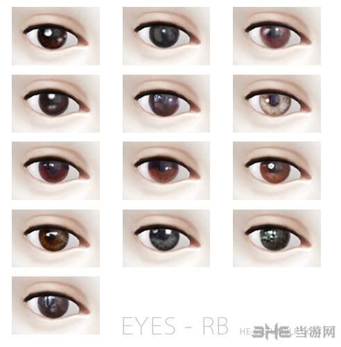 模拟人生413色黑色眼珠MOD截图0