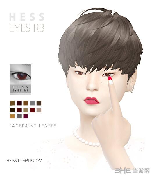 模拟人生413色黑色眼珠MOD截图1