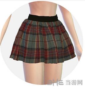 模拟人生4 女孩花纹制服裙MOD截图3