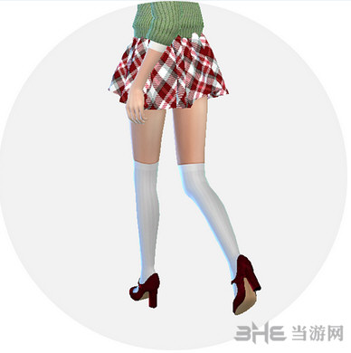 模拟人生4 女孩花纹制服裙MOD截图1