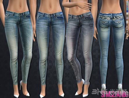 模拟人生4条纹紧身牛仔裤(内裤下)MOD截图0