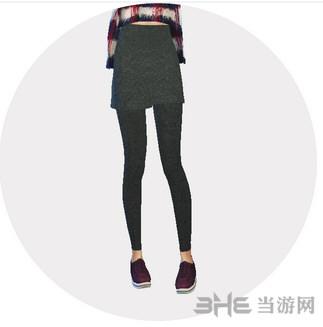 模拟人生4 22色假裙子连裤袜MOD截图1