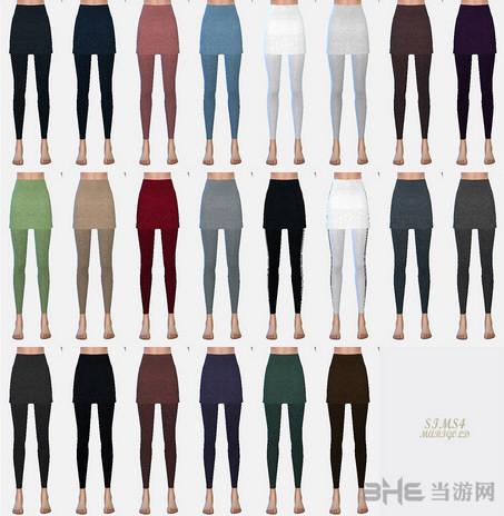 模拟人生4 22色假裙子连裤袜MOD截图2