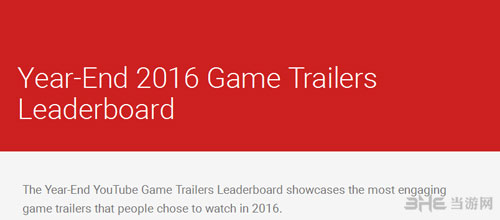 2016年度十大游戏宣传片配图1