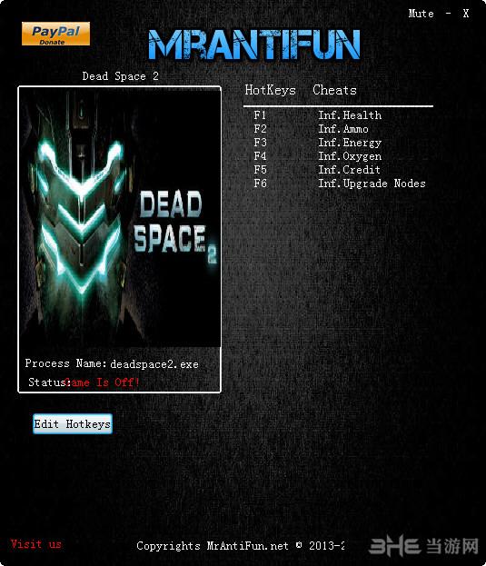 死亡空间2六项修改器MrAntiFun版截图0