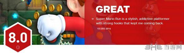 超级马里奥跑酷IGN评分截图