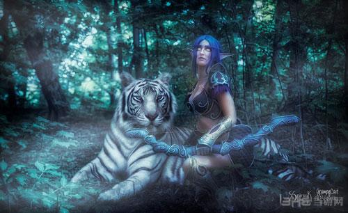 魔兽世界暗夜精灵和血精灵cos截图5