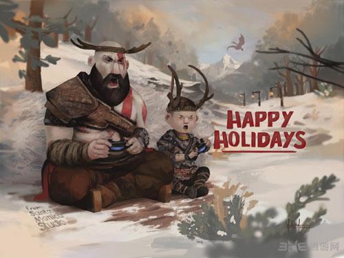 圣诞祝贺卡图1