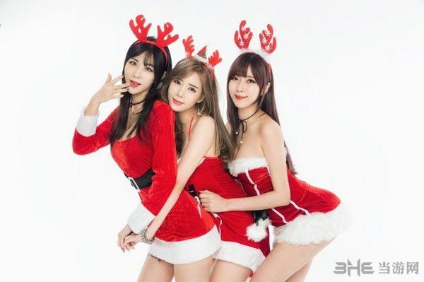 圣诞美女图片1