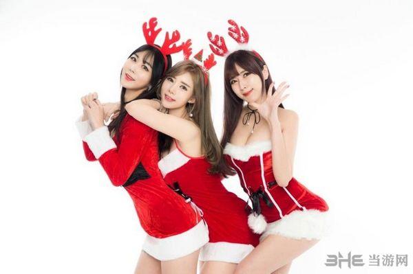 圣诞美女图片3