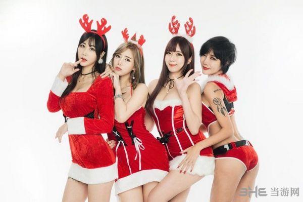 圣诞美女图片2