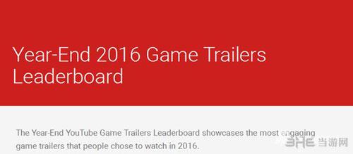 YouTube游戏宣传片排名截图1