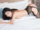 熟女丁筱南床上半裸性感写真 开档情趣内衣秀翘臀