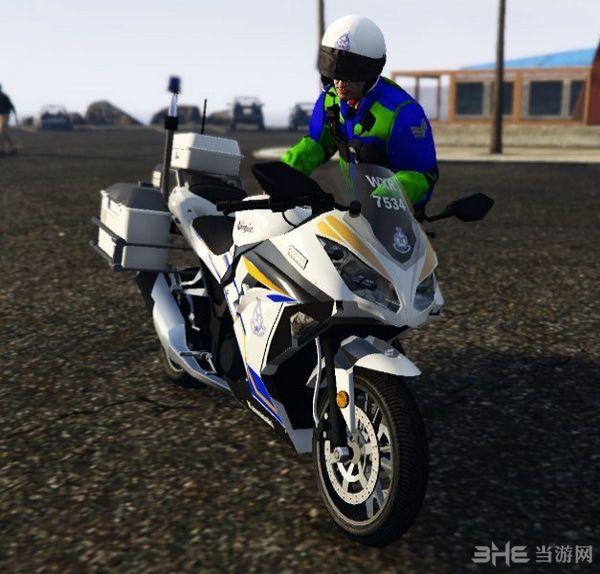 侠盗猎车手5川崎牌马来西亚警用摩托车MOD截图1