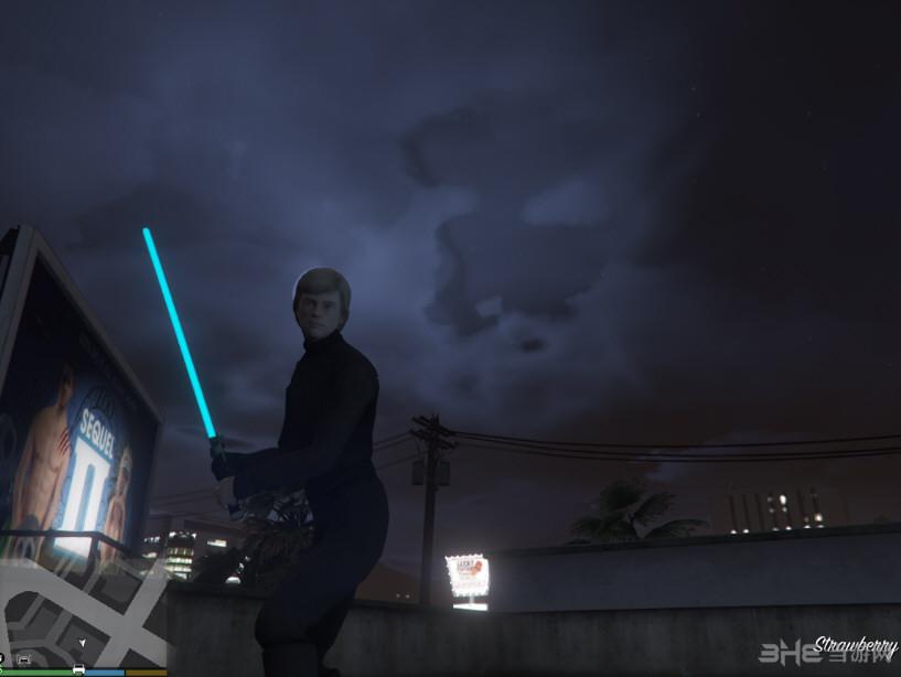 侠盗猎车手5真实光剑带发光MOD截图1