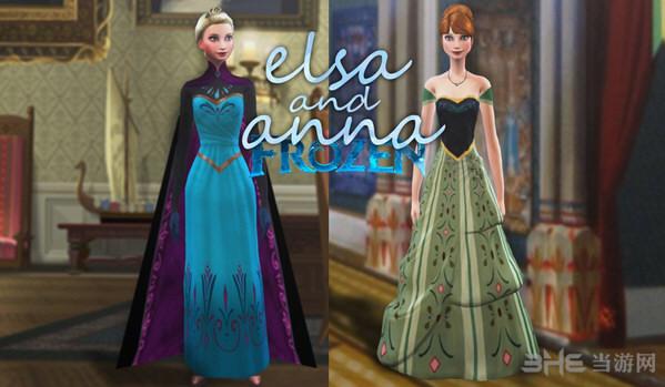 模拟人生4艾莎和安娜的正装MOD截图0