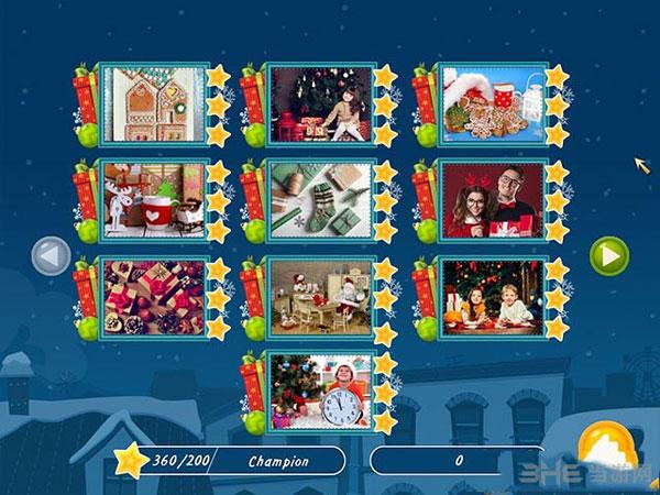 圣诞假期:马赛克拼图截图0