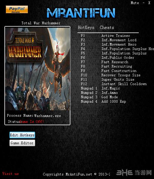 全面战争:战锤十七项修改器截图0