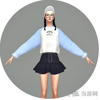 模拟人生4 55色简单的上衣MOD截图0