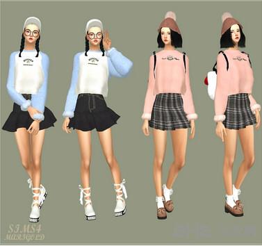 模拟人生4 55色简单的上衣MOD截图1