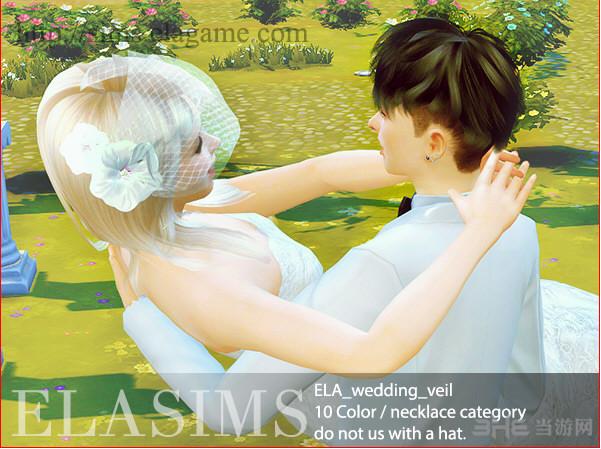 模拟人生4 ELA_婚纱头罩(眼镜-项链下)MOD截图0