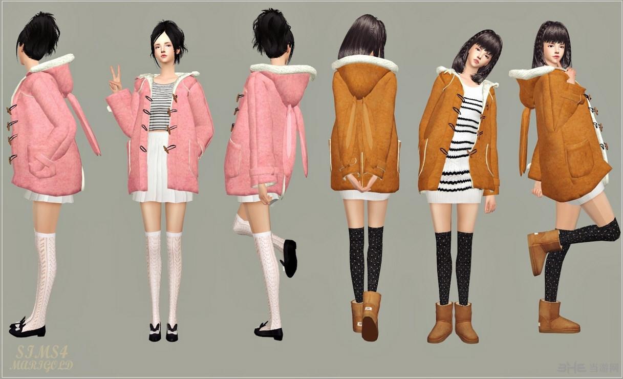 模拟人生4 冬季外套(配件-项链-配件-手镯)MOD截图3