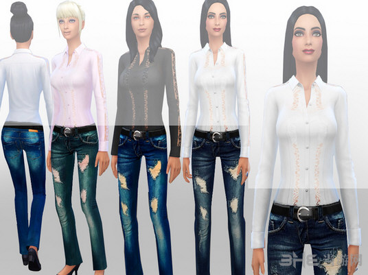 模拟人生4破洞牛仔裤MOD截图0