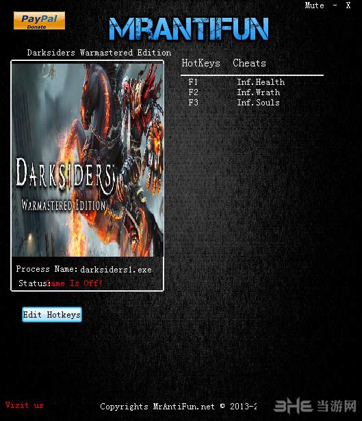 暗黑血统:战神版三项修改器截图0