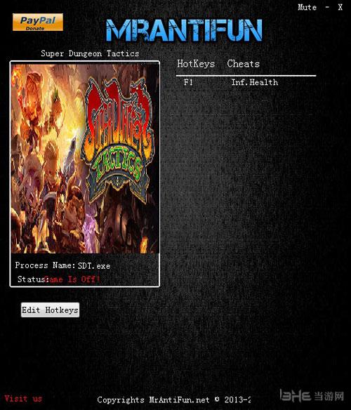 超级地牢战术一项修改器MrAntiFun版截图0