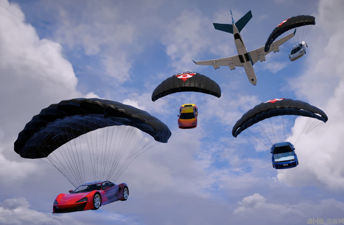 侠盗猎车手5进出口大亨DLC包全部载具的降落伞MOD截图0