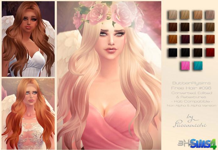 模拟人生4 18色靓丽女王头发MOD截图0