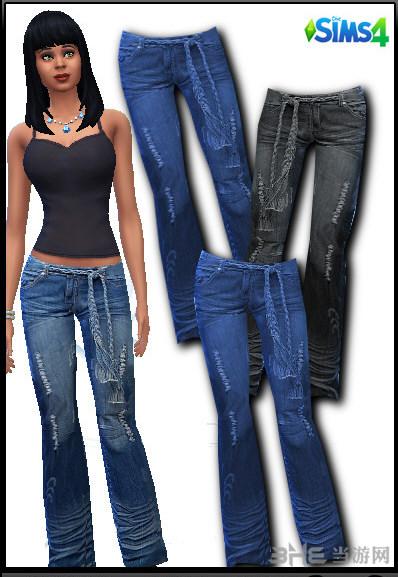 模拟人生4女生直筒牛仔裤MOD截图0