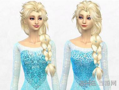 模拟人生4 13色冰雪奇缘Elsa连衣裙MOD截图1