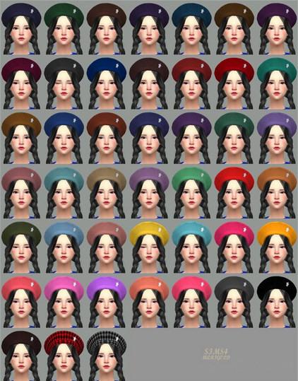 模拟人生4 45色洋装女帽MOD截图1