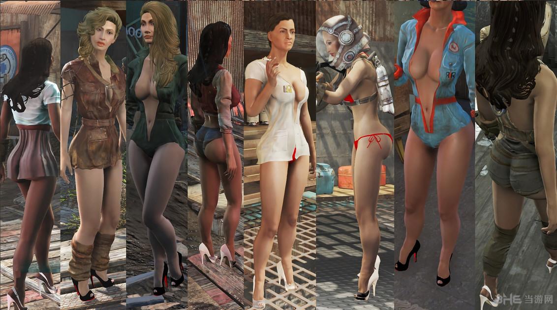 辐射4性感女性高跟鞋丝袜替换MOD截图1