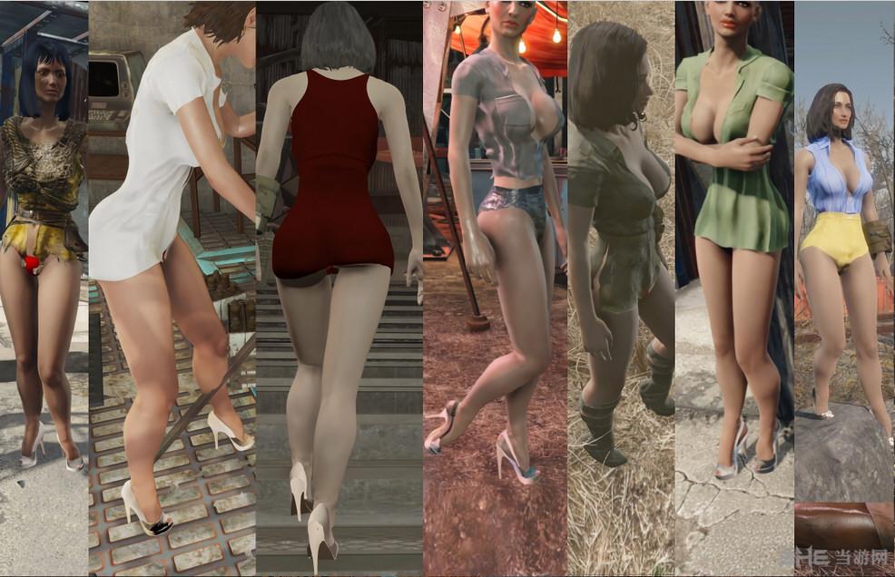 辐射4性感女性高跟鞋丝袜替换MOD截图2