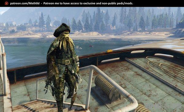 侠盗猎车手5加勒比海盗章鱼船长MOD截图2